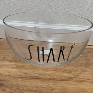 Rae Dunn Glass Bowl